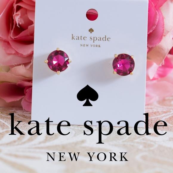 9d05d68aa kate spade Jewelry | Fuchsia Stud Earrings Gold Tone | Poshmark